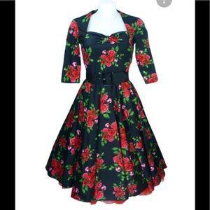 Hell Bunny Vixen Eternity Retro Vintage 1950 Dress